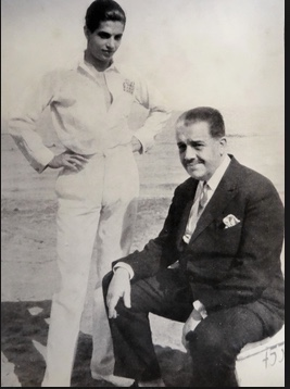 Lifar with Daddy Diaghilev